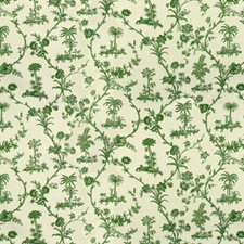 Green On White Botanical Decorator Fabric by Brunschwig & Fils