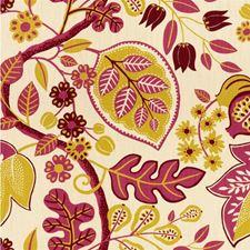 Pink/Beige Botanical Decorator Fabric by Kravet