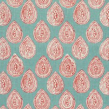 Grey/Red/White Paisley Decorator Fabric by Kravet