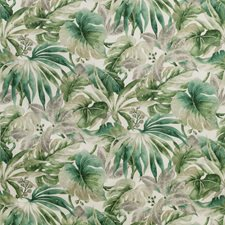 White/Green/Teal Botanical Decorator Fabric by Kravet