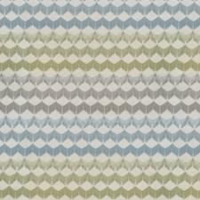 Blue/Green Chevron Decorator Fabric by JF