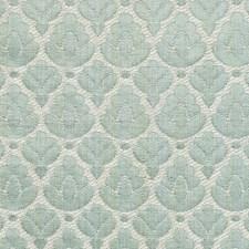 Aquamarine/Ivory Decorator Fabric by Scalamandre
