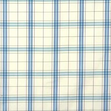 Aqua/Plum Check Decorator Fabric by G P & J Baker