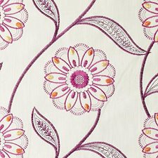 Fuchsia Embroidery Decorator Fabric by Duralee
