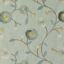 Aquamarine Embroidery Decorator Fabric by Duralee
