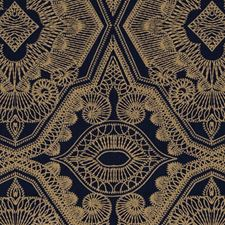 Navy Embroidery Decorator Fabric by Duralee