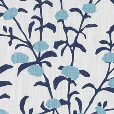 Lapis Floral Stylized Decorator Fabric by Duralee