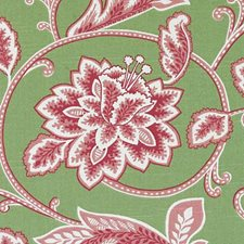 Pink/Green Leaf Decorator Fabric by Duralee
