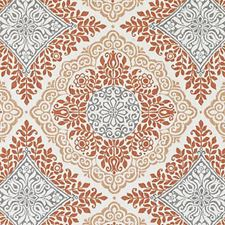 Orange Medallion Decorator Fabric by Duralee