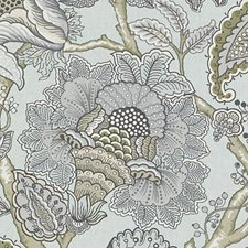 Seafoam Floral Vine Decorator Fabric by Duralee