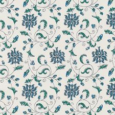 Blue/Green Leaf Decorator Fabric by Duralee