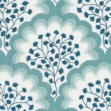 Sea Green Leaf Decorator Fabric by Duralee