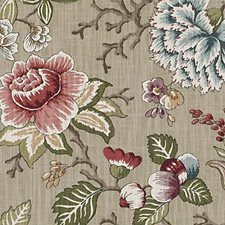 Mushroom Floral Large Decorator Fabric by Duralee