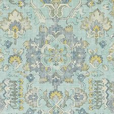 Aqua Abstract Decorator Fabric by Duralee