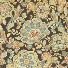Onyx Floral Medium Decorator Fabric by Duralee