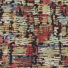 Black/Olive Abstract Decorator Fabric by Duralee