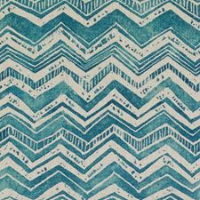 Turquoise Abstract Decorator Fabric by Duralee
