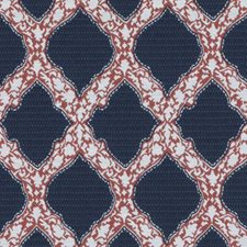Indigo Medallion Decorator Fabric by Duralee