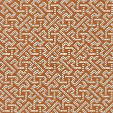 Orange Geometric Decorator Fabric by Duralee
