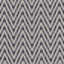 Sapphire Herringbone Decorator Fabric by Duralee