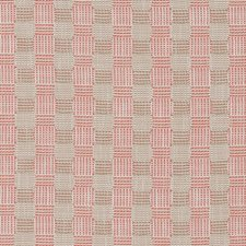 Coral Plaid Decorator Fabric by Duralee