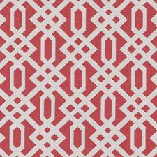 Poppy Red Diamond Decorator Fabric by Duralee