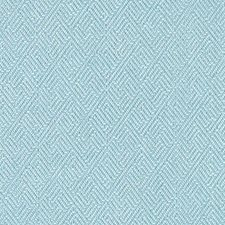 Turquoise Geometric Decorator Fabric by Duralee