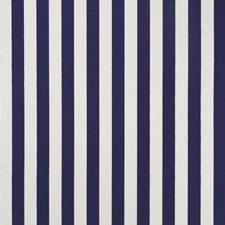 Navy Stripe Decorator Fabric by Duralee