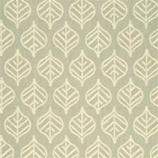 Pale Aqua Botanical Decorator Fabric by Threads