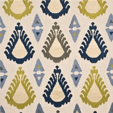 Indigo/Celery Decorator Fabric by Threads