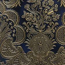 Blue/Gold Elisabeth Decorator Fabric by Scalamandre