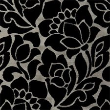 Ebony Floral Medium Decorator Fabric by Clarke & Clarke