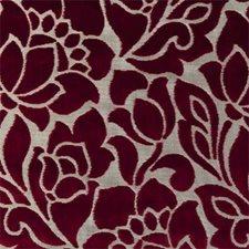 Garnet Floral Medium Decorator Fabric by Clarke & Clarke