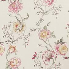 Raspberry Floral Large Decorator Fabric by Clarke & Clarke