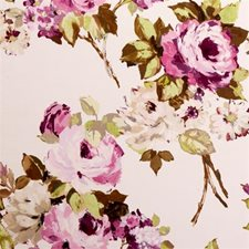 Vino Floral Large Decorator Fabric by Clarke & Clarke