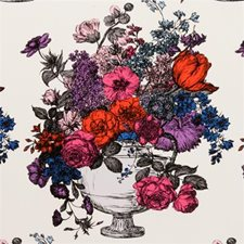 Sunset Floral Stylized Decorator Fabric by Clarke & Clarke