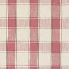Raspberry Weave Decorator Fabric by Clarke & Clarke