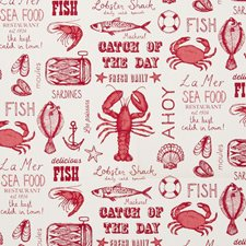 Red Decorator Fabric by Clarke & Clarke