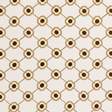 Ochre Diamond Decorator Fabric by Clarke & Clarke