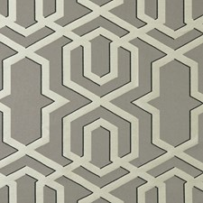 Smoke Geometric Decorator Fabric by Clarke & Clarke