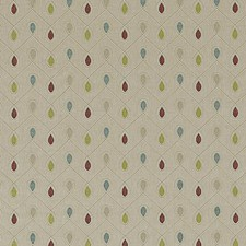 Raspberry/Duckegg Weave Decorator Fabric by Clarke & Clarke