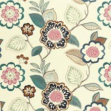 Indigo/Cerise Weave Decorator Fabric by Clarke & Clarke