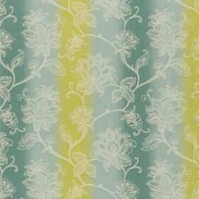 Aqua/Citron Weave Decorator Fabric by Clarke & Clarke