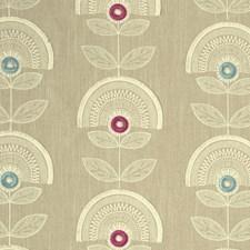 Raspberry/Mineral Weave Decorator Fabric by Clarke & Clarke