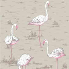 Wht/Fuch On Tup Animal Decorator Fabric by Cole & Son