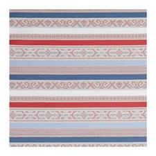 Coral/Denim Geometric Decorator Fabric by Clarke & Clarke