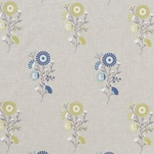 Sage/Eau De Nil Embroidery Decorator Fabric by Clarke & Clarke