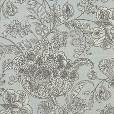 Duckegg Floral Large Decorator Fabric by Clarke & Clarke