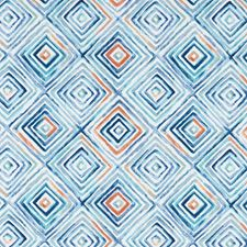 Denim/Spice Decorator Fabric by Clarke & Clarke