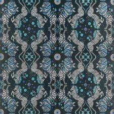Navy Animal Decorator Fabric by Clarke & Clarke